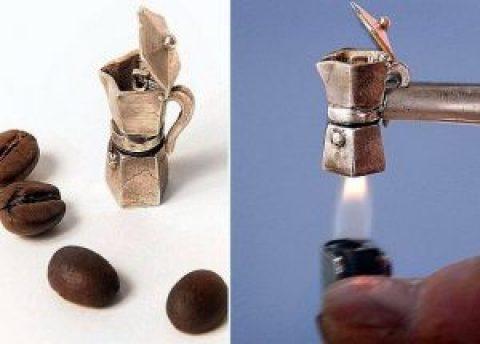 Самая маленькая кофеварка в мире